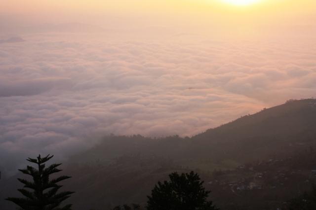 Sunrise over Nagarkot, Nepal