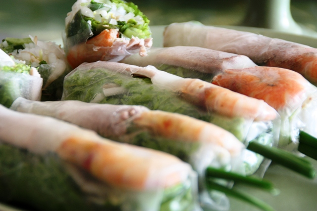 Vietnamese food - Fresh shrimp rolls