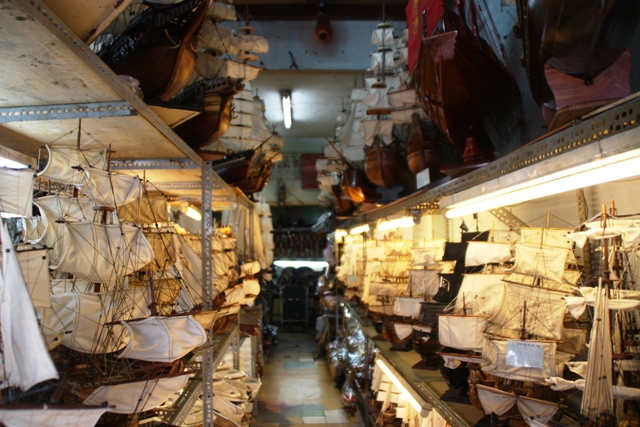 Store full of model boats