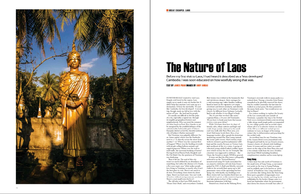 Destination Feature - The Nature of Laos - 2013-04 Oi Vietnam