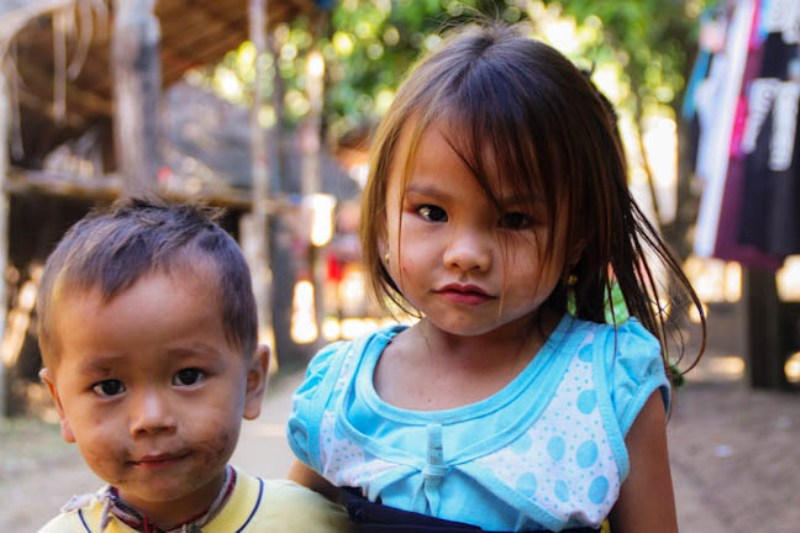 Laos - Luang Prabang - Minority Village Children 1