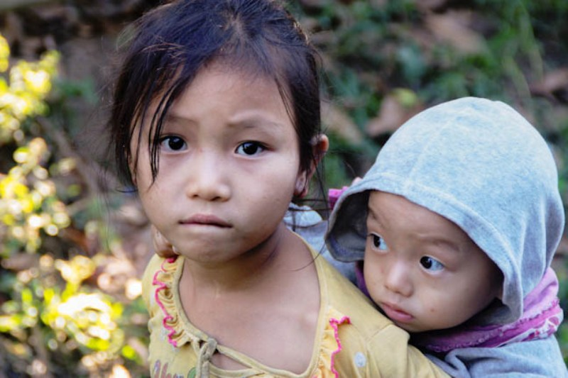 Laos - Luang Prabang - Minority Village Children 3