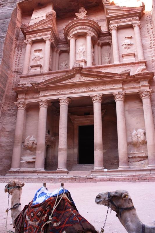 Petra - Camels at the Treasury