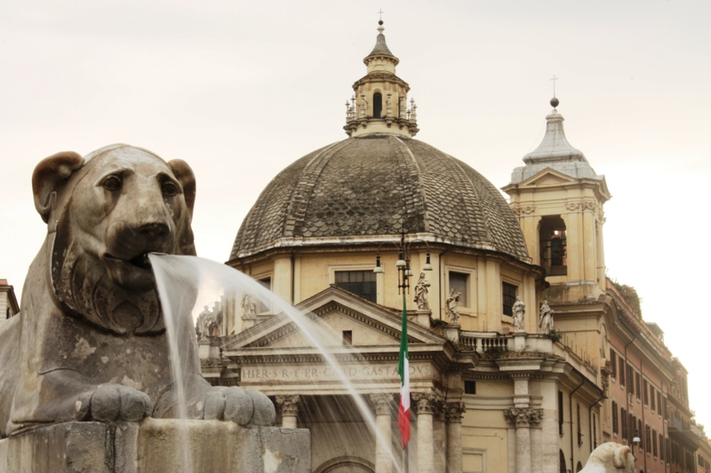 Rome - Piazza di Popolo Fountain