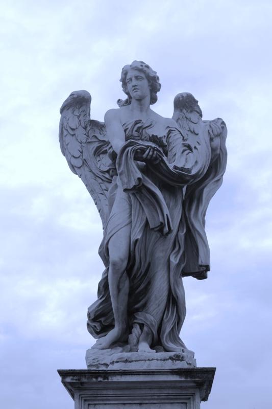 Rome - Ponte St Angelo Statue
