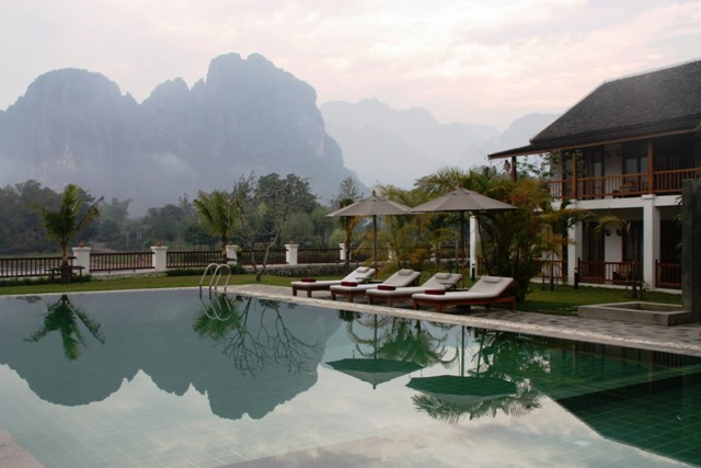 Vang Vieng - Riverside Boutique - Pool