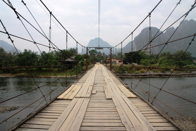 Vang Vieng - Wooden Bridge