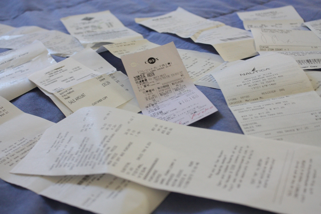 America - Receipts