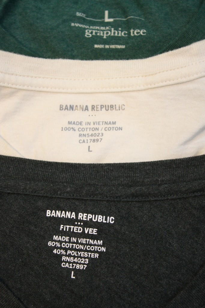 Banana Republic Shirts made in Vietnam