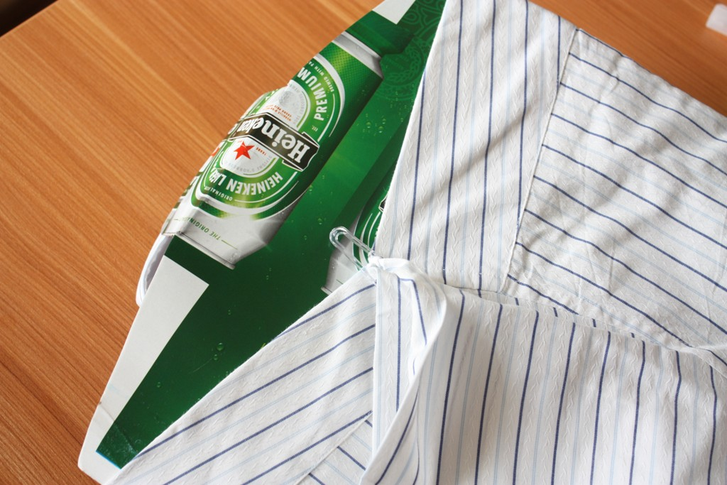 Shirt with beer insert