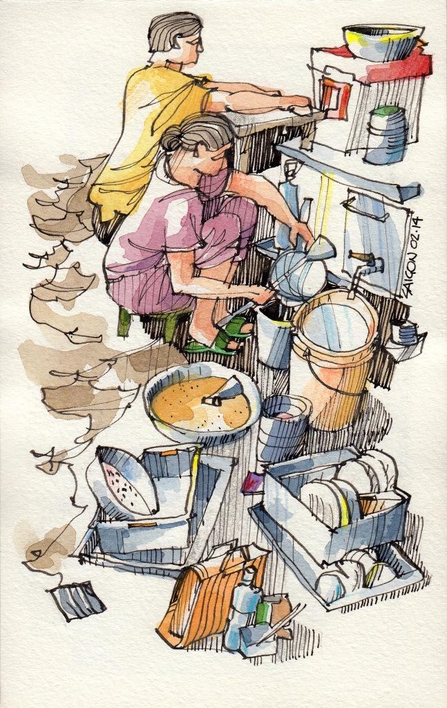Jorge Royan - Urban Sketching - Street food 2
