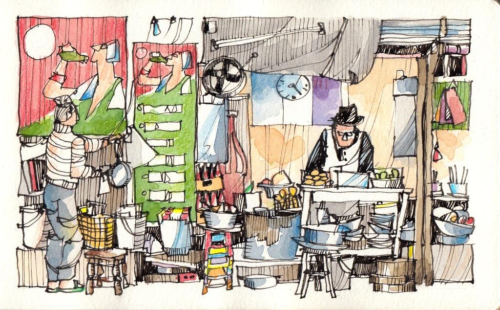 Jorge Royan - Urban Sketching - Street food