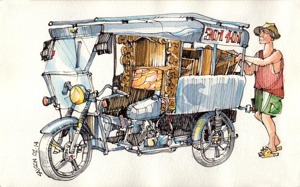 Jorge Royan - Urban Sketching - Tuk Tuk