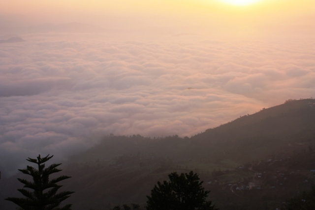Sunrise over Nagarkot, Nepal