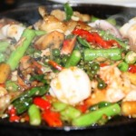 Seafood with peppercorns