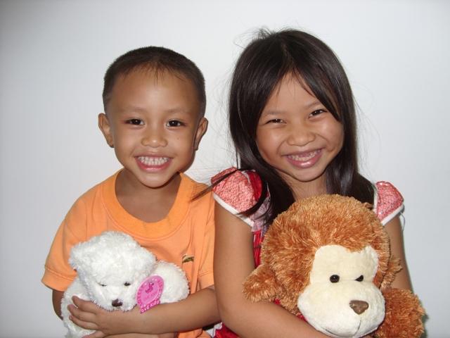 Two adorable Vietnamese kids