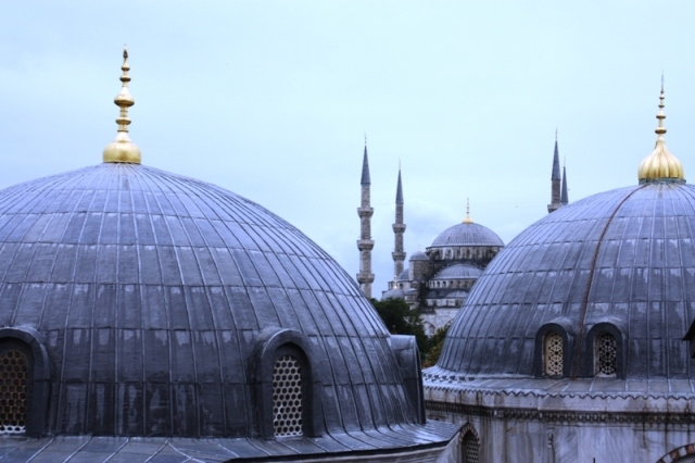 Taken from a very high window ledge in the Hagia Sophia