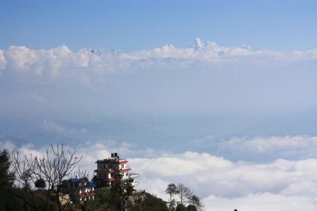 Nagarkot, Nepal with a view of the Himalayas