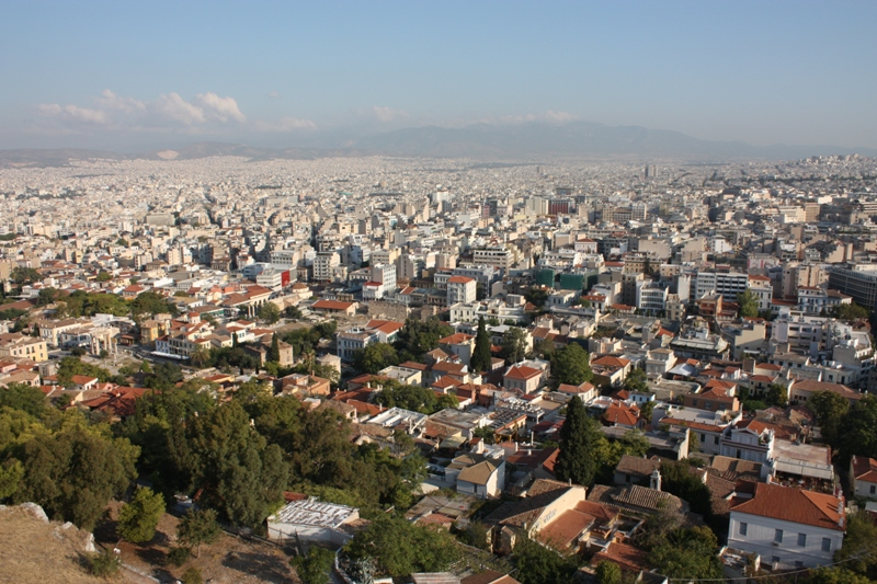 Athens City View from Acropolis