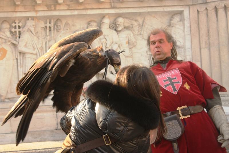 Budapest - Falcon Surprise at Matthias Church