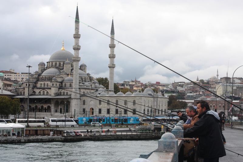 Fishing from Galata Bridge