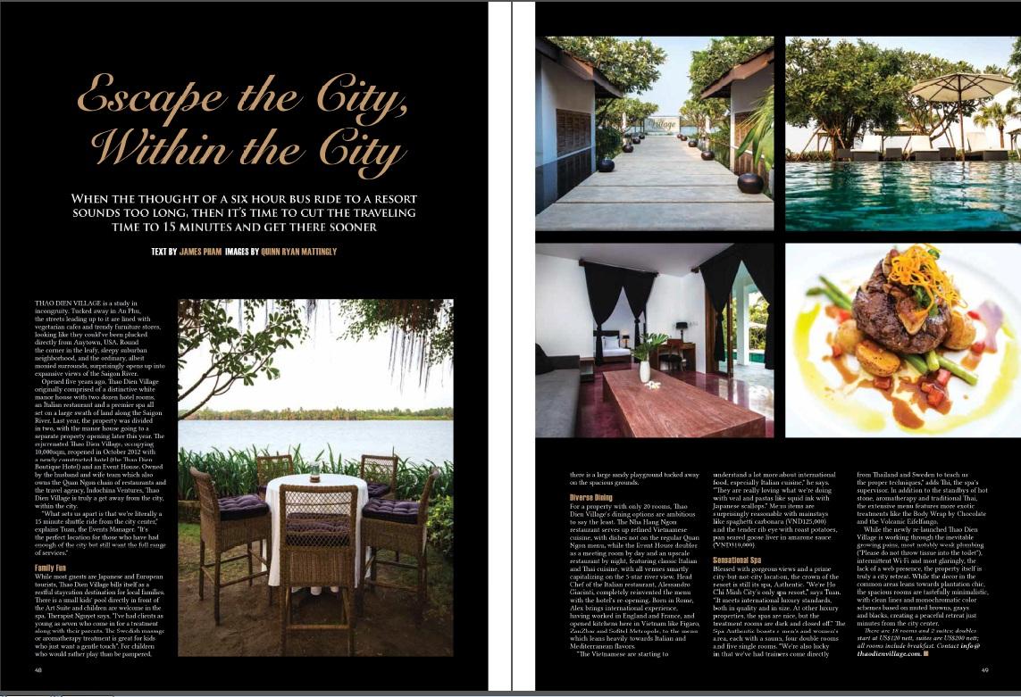 Hotel Review - Thao Dien Village - 2013-04 Oi Vietnam