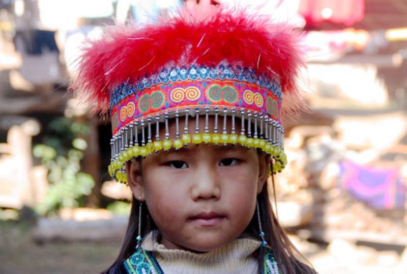 Laos - Luang Prabang - Minority Girl