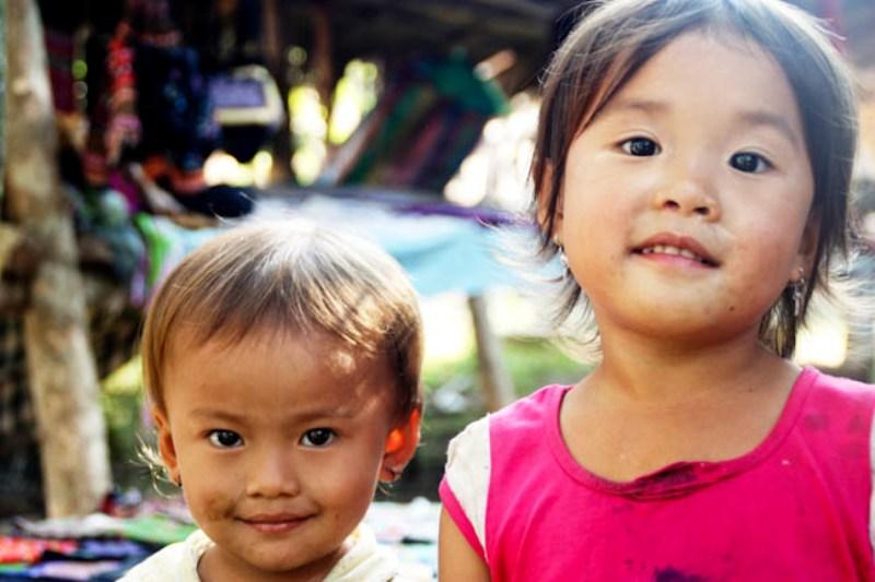 Laos - Luang Prabang - Minority Village Children 2