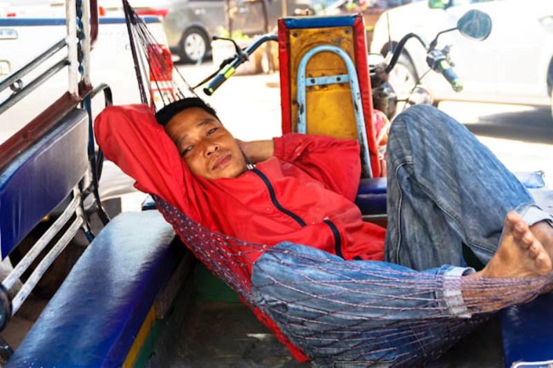 Laos - Vientiane - Tuk Tuk Hammock