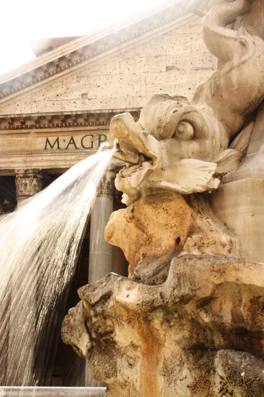 Rome - Pantheon - Fountain