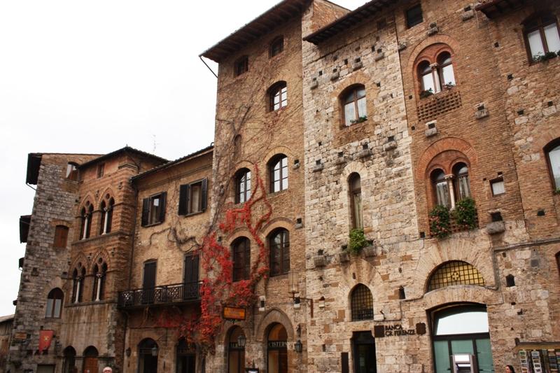 San Gimignano - Row of Houses