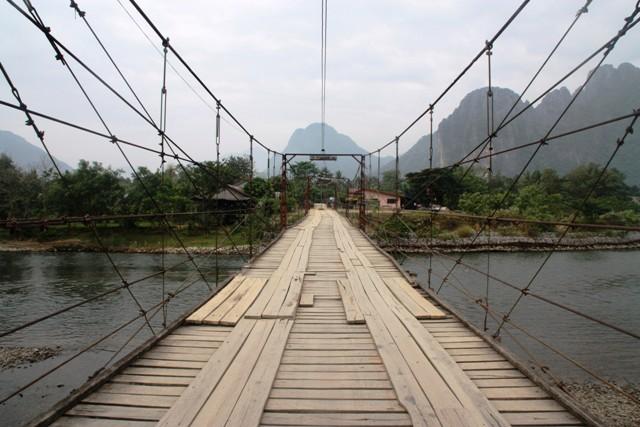 Vang Vieng - Wooden Bridge