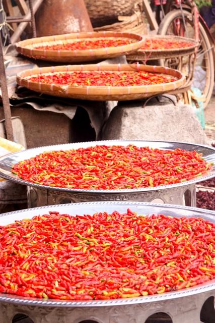 Luang Prabang-Chilis Drying