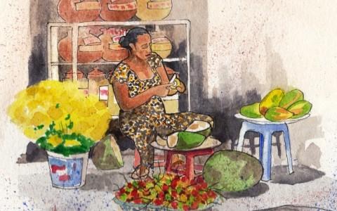 Bridget March - jack fruit lady crop