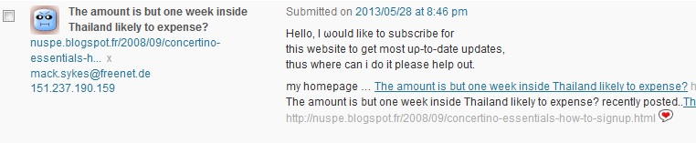 spam - subscribwe