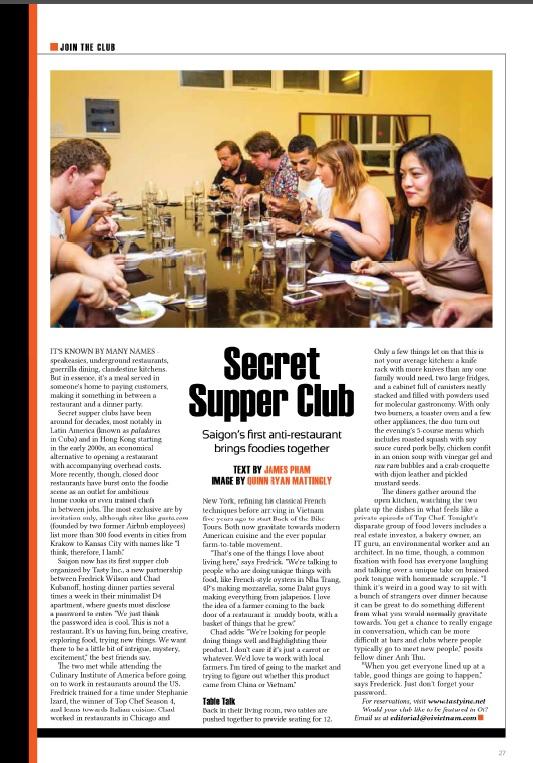 2013-08 Oi Vietnam - Secret Supper Club