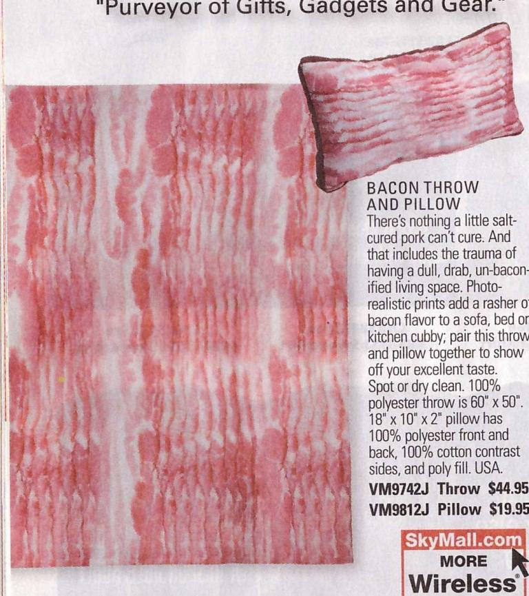 Skymall - Bacon pillow