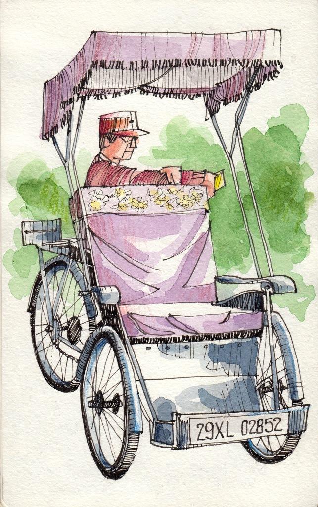 Jorge Royan - Urban Sketching - Cyclo