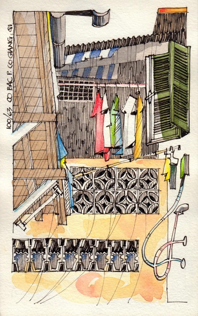 Jorge Royan - Urban Sketching - Laundry