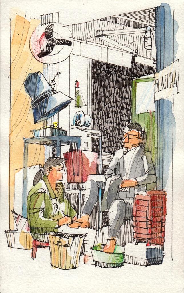 Jorge Royan - Urban Sketching - Manicure