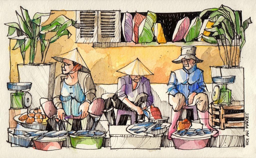 Jorge-Royan-Urban-Sketching-Market-Vendors